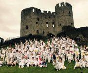Karate kicks in the castle