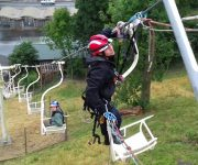 Chairlift training exercise
