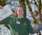 Nicola flies through bird course
