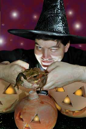 Giant toads join Hallowe'en fun