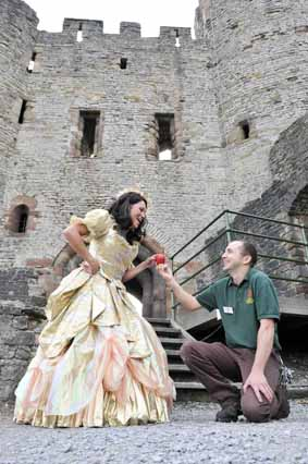 Fairytale backdrop for panto star