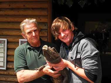 Crikey! Croc-crazy teenager returns