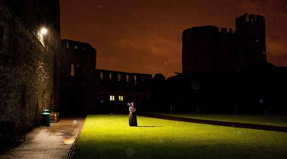 Dudley Zoological Gardens Halloween Pictured is a mysterious figure lurking in the Castle Courtyard