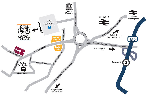 Map of dudley zoo